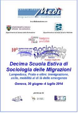 Decima Scuola Estiva di Sociologia delle Migrazioni