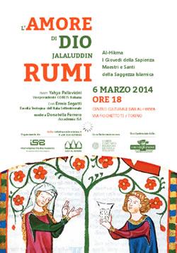 Il Centro Interculturale segnala: <br/>L'AMORE DI DIO in Jalaluddin Rumi