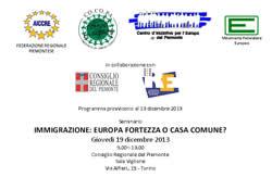 """""""Immigrazione: Europa fortezza o casa comune?"""""""
