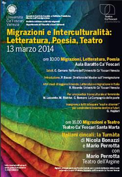 """Convegno """"Migrazioni e interculturalità"""" e spettacolo teatrale """"La turnàta – Italiani cìncali"""""""