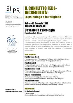 Il conflitto fede-incredulità: lo psicologo e le religione. Prospettive psicodinamiche e psicosociali