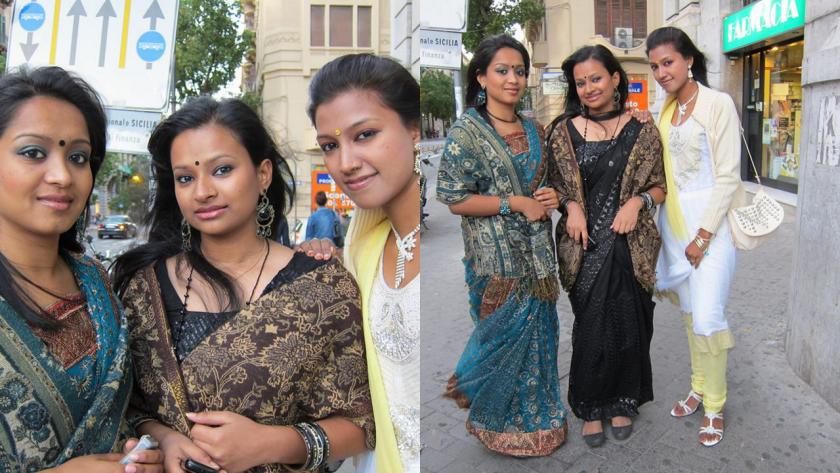 Foto scattate 2 anni fa in via Roma a Palermo... Oltre alla bellezza di queste ragazze, mi sono piaciuti molto i loro vestiti tradizionali,veramente bellissimi!
