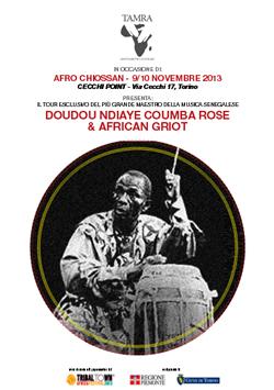 IL CENTRO INTERCULTURALE SEGNALA:  DOUDOU NDIAYE COUMBA ROSE & AFRICAN GRIOT