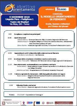 IL CENTRO SEGNALA:<BR />Il modello orientamento in Piemonte - scuole, imprese e istituzioni per il futuro dei giovani