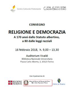 CHIESA VALDESE DI TORINO -  FESTEGGIAMENTI PER IL XVII FEBBRAIO